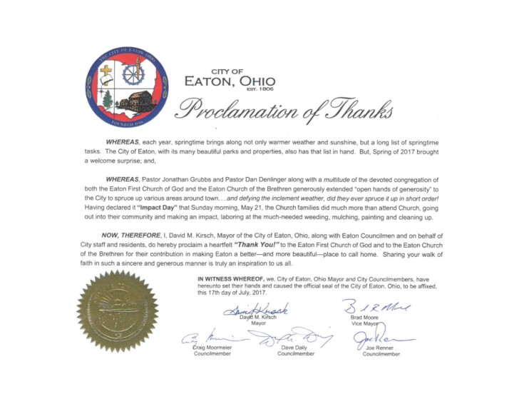 Impact Eaton Certificate