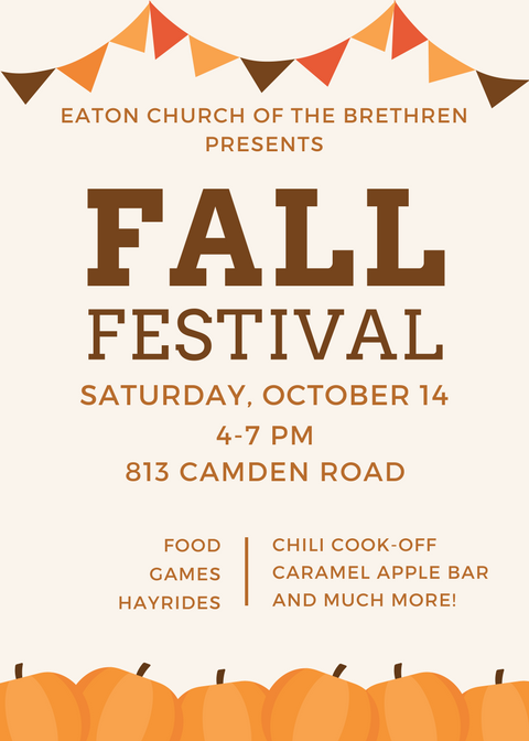 School Fall Festival Flyer