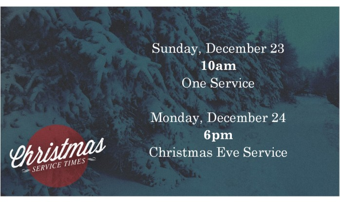 Christmas service times