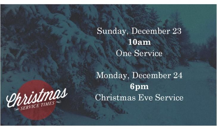 Christmas service times